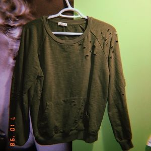 Tops - distressed long sleeve shirt